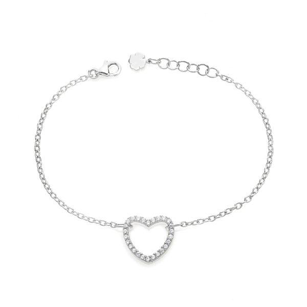 Bracciale-catena-cuore-chiaro-easy-roan-preziosi-gioielli