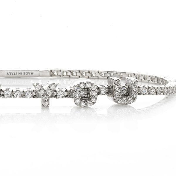 Braccialetto-tennis-scritta-linea-easy-roan-preziosi-gioielli-dettaglio