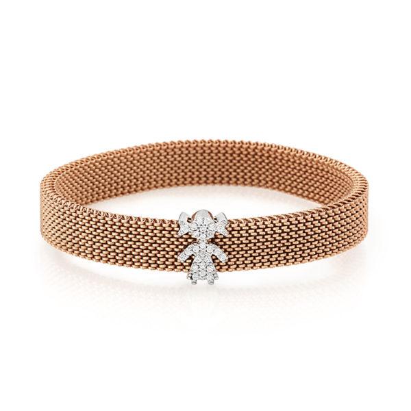 Bracciale-simbolo-bambina-flex-roan-preziosi-gioielli