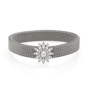 Bracciale-simbolo-fiore-flex-roan-preziosi-gioielli