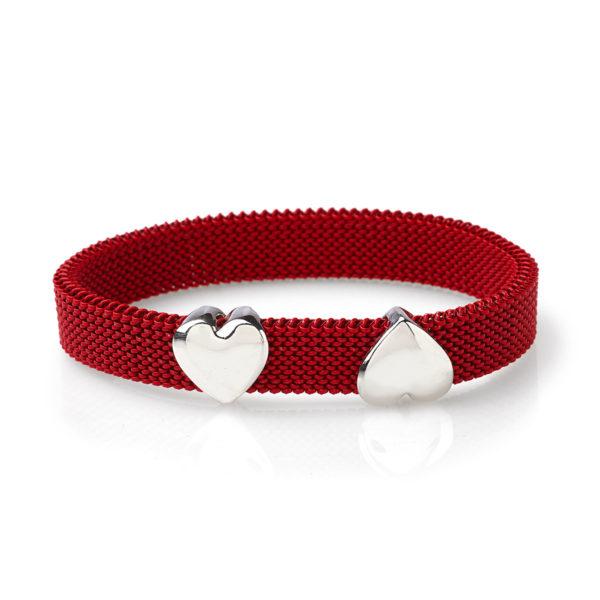 Bracciale-simbolo-doppio-cuore-flex-roan-preziosi-gioielli
