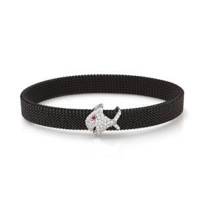 Bracciale-simbolo-pesciolino-flex-roan-preziosi-gioielli